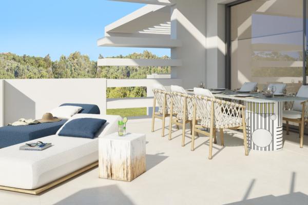 3 Sovrum, 3 Badrum Lägenhet Till Salu i La Meridiana, Marbella Golden Mile