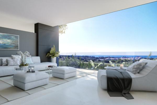 3 Sovrum, 2 Badrum Lägenhet Till Salu i Vanian Green Village, New Golden Mile, Estepona